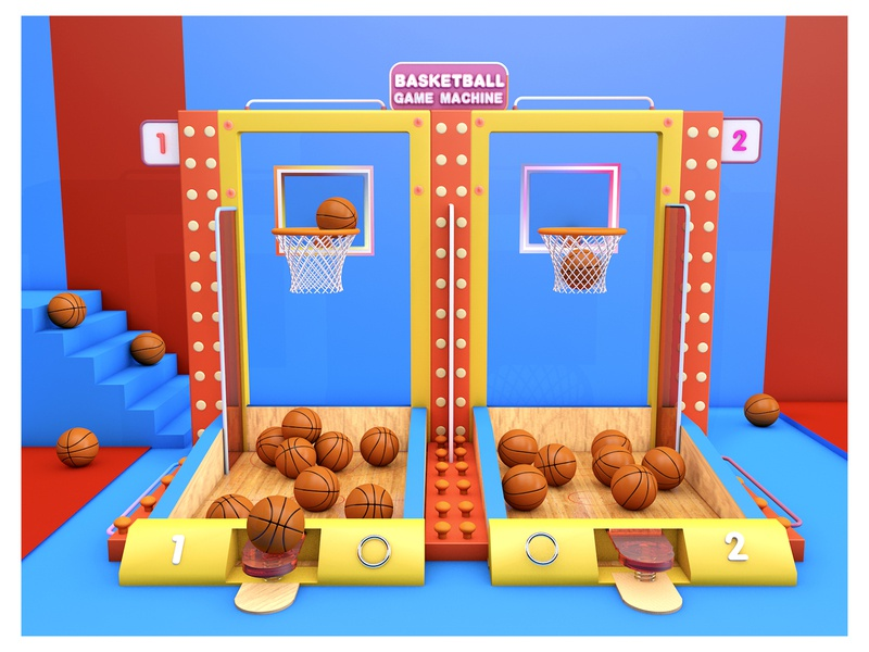 BASKETBALL GAME MACHINE 篮球c4d