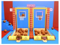 BASKETBALL GAME MACHINE 篮球c4d