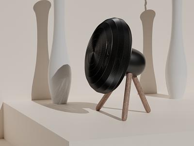 3D fan concept 3d product concept product 3d illustration design