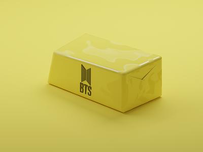 BTS Butter 3d poster branding product illustration design concept 3d product 3d