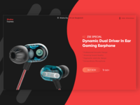 KZ ZSE Special Dual Driver In Ear Gaming Earphone - Landing Page