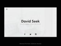 Modern Portfolio Minimal Website Design