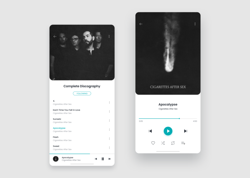 Daily UI Challenge #009 - Music Player 009 ui design dailyui
