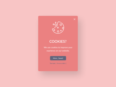 Daily UI Challenge #016 - Pop-up Message