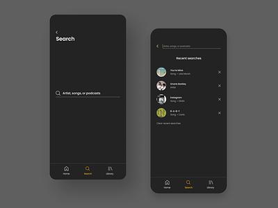 Daily UI Challenge #022 - Search dark ui dark theme dark mode mobile search 022 ui design dailyui