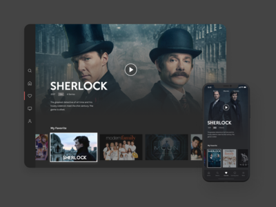 Daily UI Challenge #025 - TV App