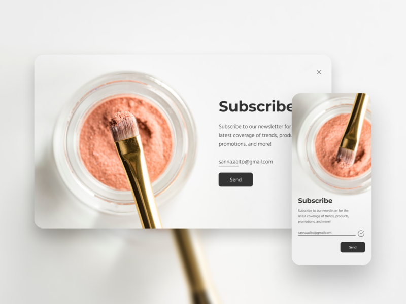 Daily UI Challenge #026 - Subscribe subscribe desktop mobile web 026 uidesign dailyui