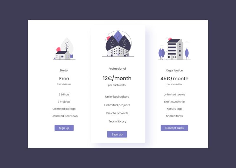 Daily UI Challenge #030 - Pricing pricing 030 web uidesign dailyui