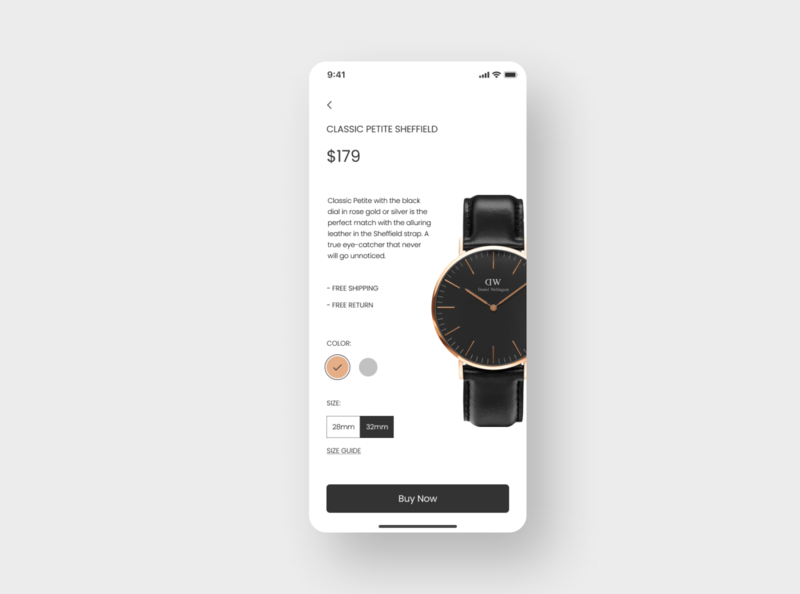Daily UI Challenge #033 - Customize Product customization product mobile uidesign dailyui
