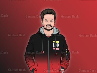 Cartoon Portrait-140920 gradient background drawing vector portrait illustration cartoon