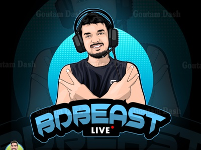 Gaming Cartoon/Mascot Logo logo mascot gradient design background drawing vector portrait illustration cartoon