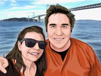 Cartoon/vector portrait for a couple