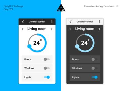 Home Monitoring Dashboard UI