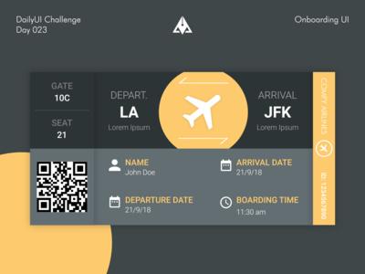 Boarding Ticket UI