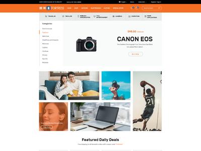 Fortress E-commerce website ui ux designs webdesign graphic brand websites web designer app icon vector landing page design graphic design website developer web developer illustration design ui branding website design ux ui  ux