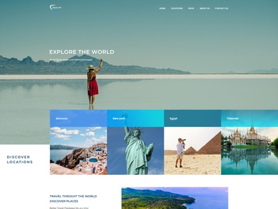 Travel away landing page