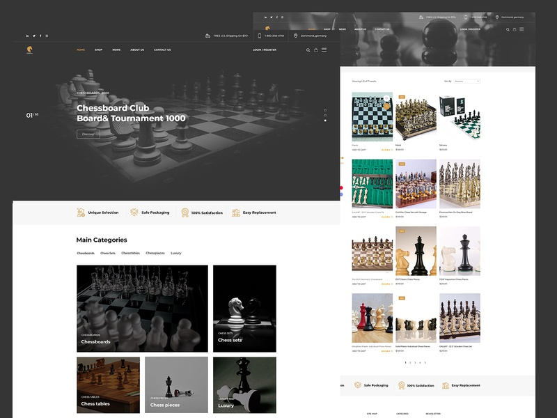 chess store website Ui Ux user inteface new web modern clean graphic websites web design web designer logo design graphic design website developer web developer illustration design ui website design branding ux ui  ux