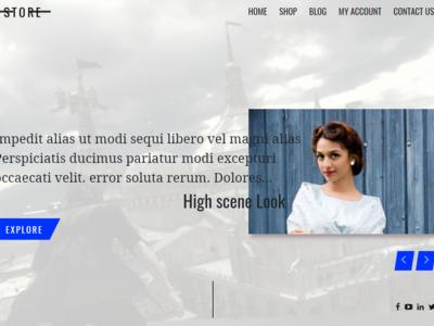 Clothes Shop and blog  web developer