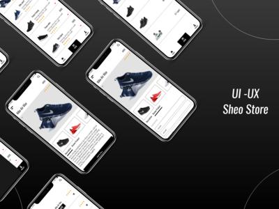 shoe store app ui-ux