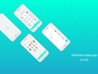 Matches Today app ui ux