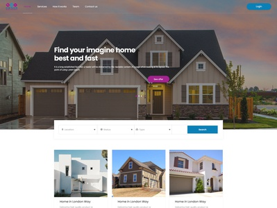 Find your home web designer animation adobe photoshop adobe xd user experience user interface designs graphicdesign typography logo graphic design website developer web developer illustration design ui branding website design ux ui  ux