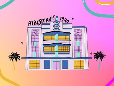 Art Deco Miami 2 adobe miami lettering illustration illustrator on ipad artdeco architecture adobe illustrator