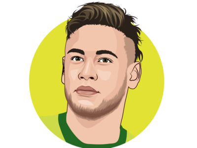 Neymar jr vector drawing