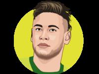 Neymar jr vector drawing