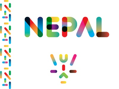 Nepal branding logo illustration colors gradient designer nepali coloful type abstract design nepal