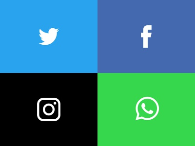 Free Social Media Icons by Unblast on Dribbble