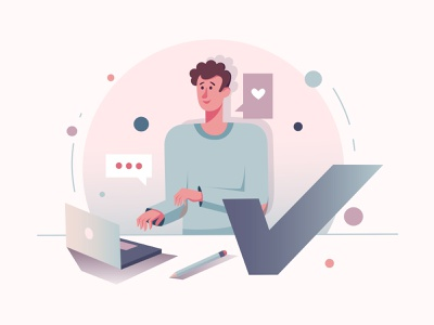 Graphic Designer Illustration vector illustration ai download freebie free