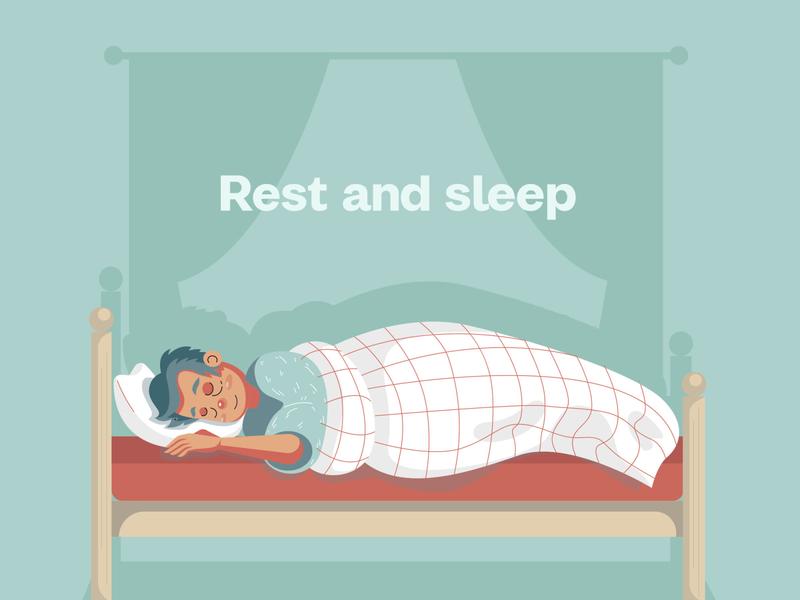Rest and Sleep Illustration
