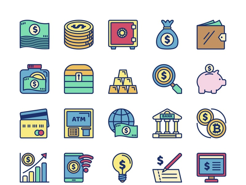 25 Money Icons eps template psd vector illustration ai freebie download free