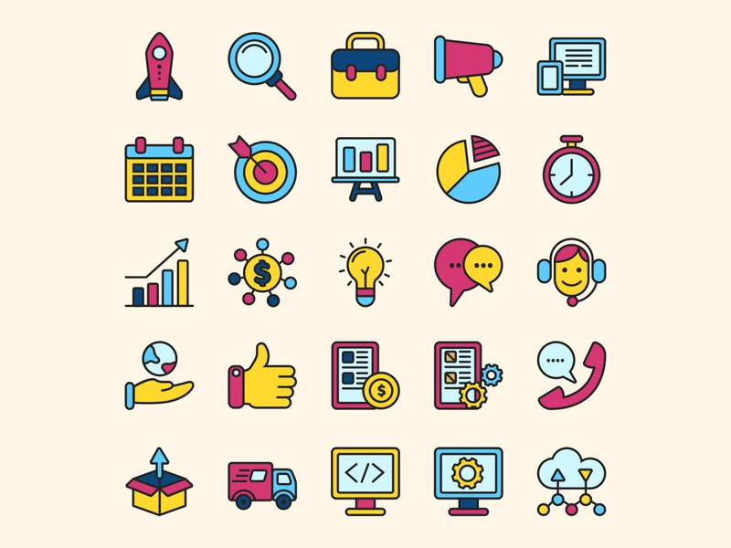 Start Up Icon Set Part 1 ai download ai design ai vector ai illustrator illustration symbol logo design logo vector download vector design icons download icons pack icons set icon design vector icon start up vector start up icon start up