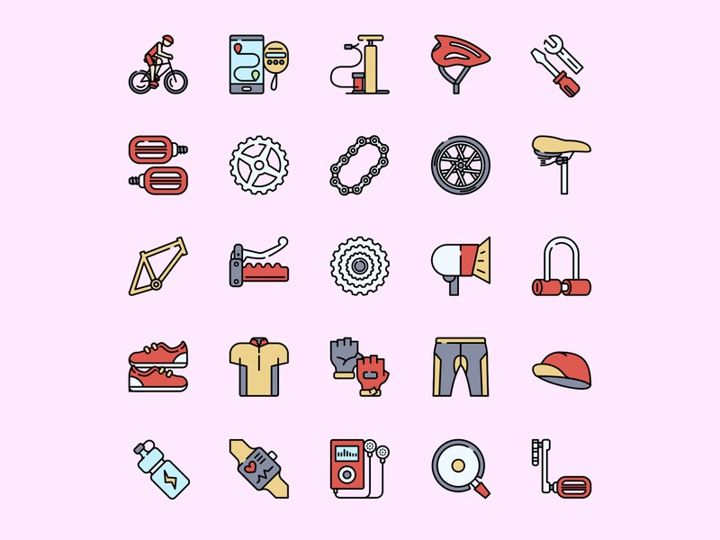 Bicycle Icon Set ai download ai design ai vector ai illustrator illustration symbol logo design logo vector download vector design icons download icons pack icons set icon design vector icon bicycle vector bicycle icon bicycle