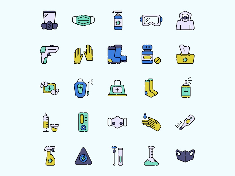 Covid protection equipment icon set ai download ai design ai vector ai illustrator illustration symbol logo design logo vector download vector design icons download icons pack icons set icon design vector icon covid vector covid icon covid