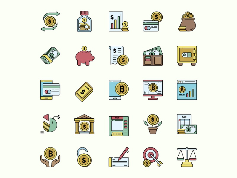 Currency Icon Set ai download ai design ai vector ai illustrator illustration symbol logo design logo vector download vector design icons download icons pack icons set icon design vector icon currency vector currency icon currency