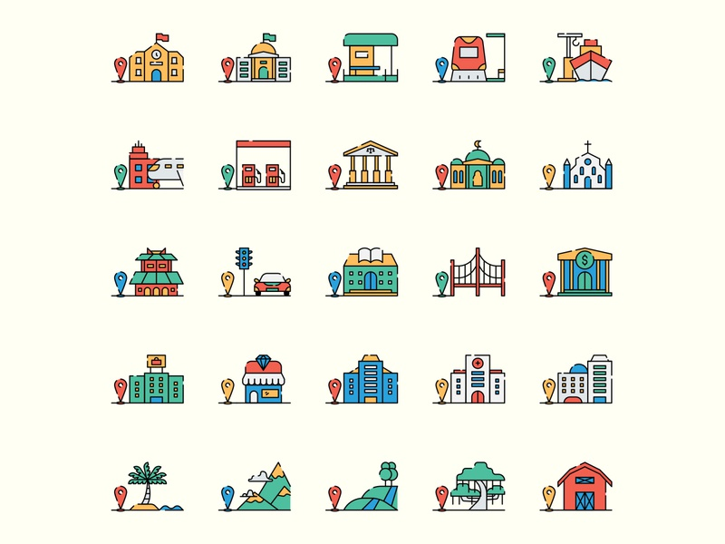 Location icon set ai download ai design ai vector ai illustrator illustration symbol logo design logo vector download vector design icons download icons pack icons set icon design vector icon location vector location icon location