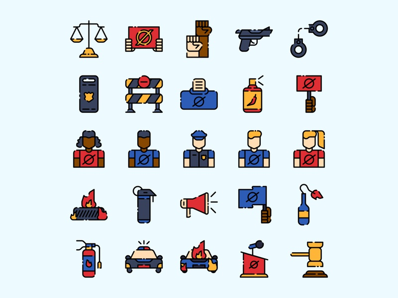Protest Icon set ai download ai design ai vector ai illustrator illustration symbol logo design logo vector download vector design icons download icons pack icons set icon design vector icon protest vector protest icon protest