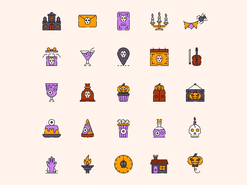 Halloween Party Icon Set ai download ai design ai vector ai illustrator illustration symbol logo design logo vector download vector design icons download icons pack icons set icon design vector icon halloween vector halloween icon halloween