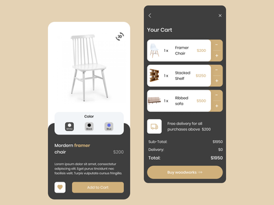 Woodworking App Template-Figma ux design free app ui kit app template template woodwork freebie figma app