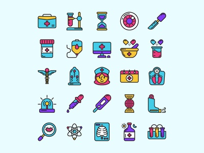 Medical Colored Icons ai download ai design ai vector ai illustrator illustration symbol logo design logo vector download vector design icons download icons pack icons set icon design vector icon medical vector medical icon medical freebie
