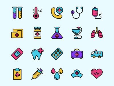 Medical Icon Set ai download ai design ai vector ai illustrator illustration symbol logo design logo vector download vector design icons download icons pack icons set icon design vector icon medical vector medical icon medical freebie