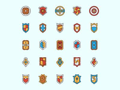 Sheild Icon Set ai download ai design ai vector ai illustrator illustration symbol logo design logo vector download vector design icons download icons pack icons set icon design vector icon shield vector shield icon shield freebie