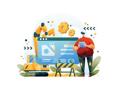 Designing a Banner cartooning cartoon character design character illustrator vector design vector download vector vector illustration banner illustration illustration banner design freebie
