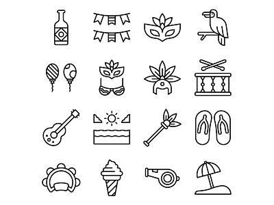 Brazil Carnival icon set-02 ai download ai design ai vector ai illustrator illustration symbol logo design logo vector download vector design icons download icons pack icons set icon design vector icon carnival vector carnival icon carnival freebie