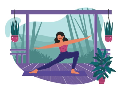 Outdoor Yoga illustration cartooning cartoon character design character illustrator vector design vector download vector vector illustration yoga illustration illustration outdoor yoga freebie