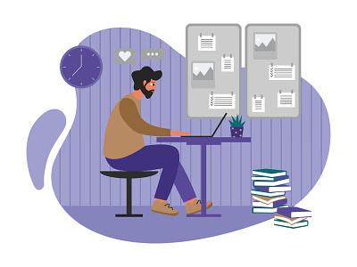 Working illustration cartooning cartoon character design character illustrator vector design vector download vector vector illustration work illustration illustration work freebie