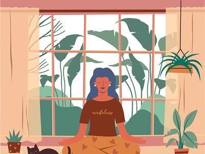Home mindfulness illustration 02 cartooning cartoon character design character illustrator vector design vector download vector vector illustration yoga illustration illustration mindfulness yoga freebie