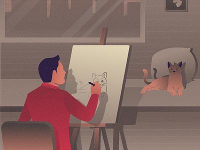 Artist Illustration design cartooning vector vector design illustrator vector download freebie illustration vector illustration illustration download free illustration artist illustration painting artist art